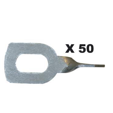 ANNEAUX DE TIRAGE TORSADES X 50 *