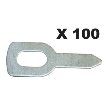 ANNEAUX DE TIRAGE DROIT X100 *