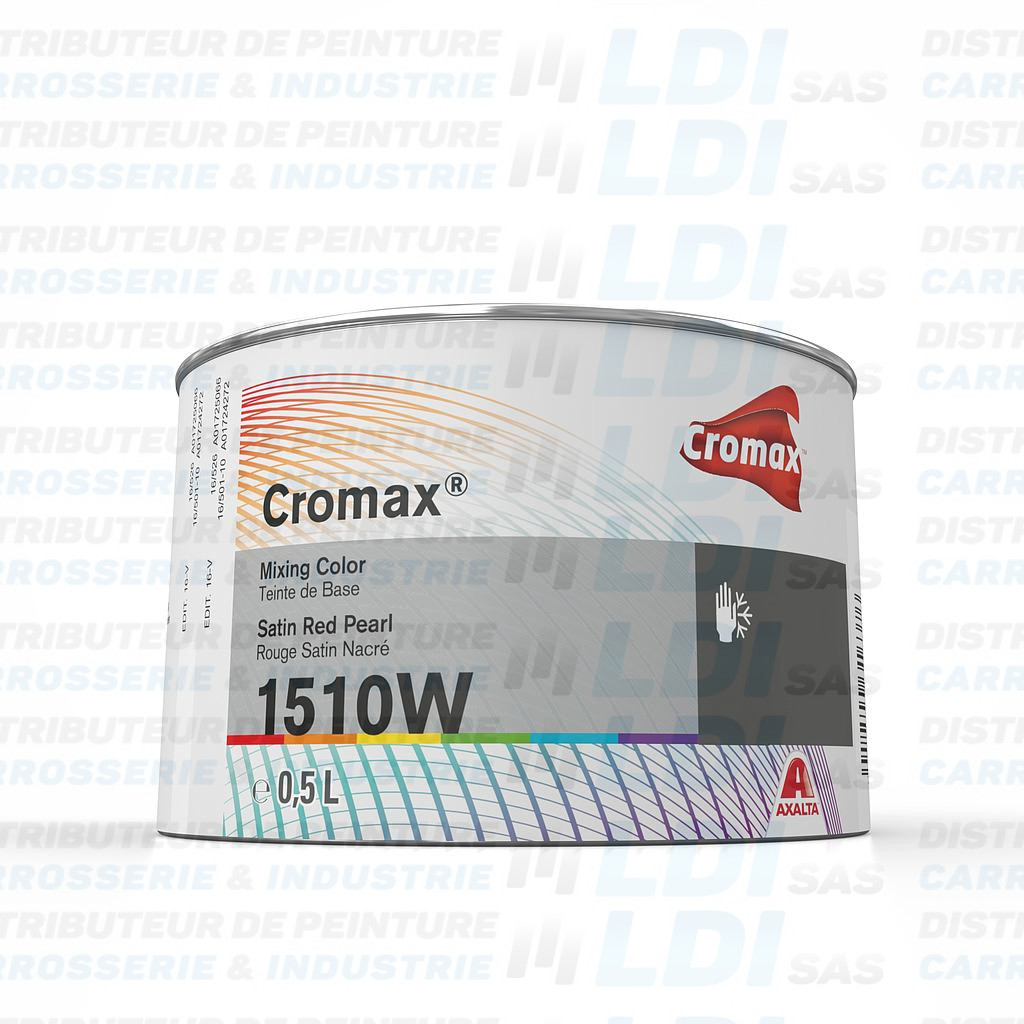 CROMAX ROUGE NACRE SATINE 0.5 L