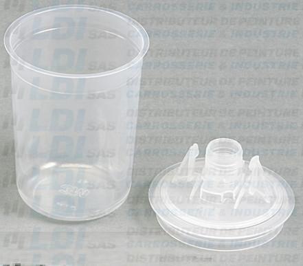 GODET PPS +COUV+BOUCH 0.170 L 125æ (CARTON 50 SETS