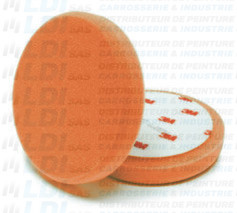 MOUSSE DE POLISSAGE DIAM 135MM ALVEOLEE ORANGE X1