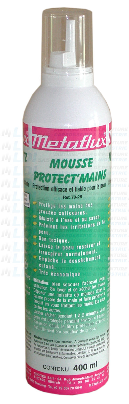 MOUSSE PROTECTION DES MAINS 400ML
