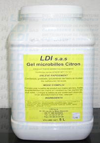 SAVON GEL MICROBILLES CITRON LDI 5L