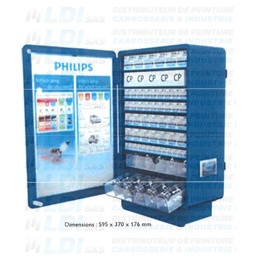 PRESENTOIR MURAL METALLIQUE COMPLET PHILIPS