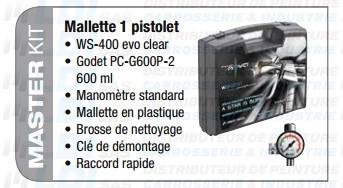 MALLETTE PISTOLET WS 400  BUSE  1.4 HD VERNIS