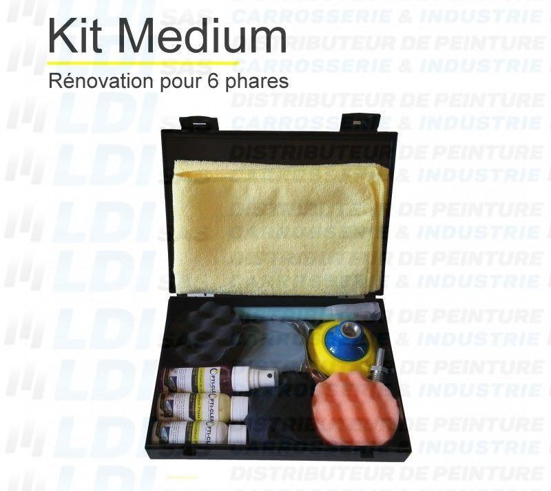 KIT RENOVATION OPTIQUE VOITURE 6 PHARES