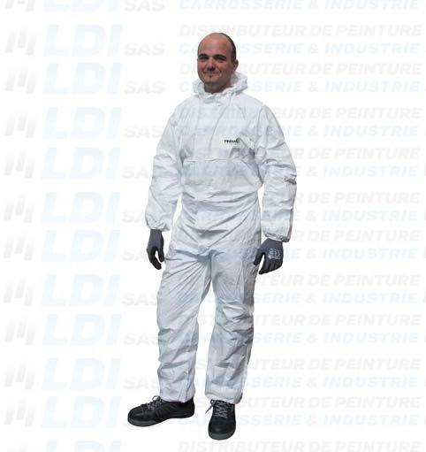 COMBINAISON DE PEINTURE BLANC TYVEK TAILLE XL