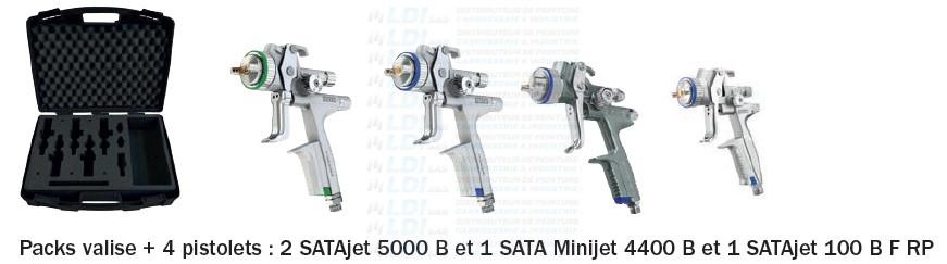 VALISE 4 PIST: 5000 B RP/HVLP - 4400 B - 100 BF RP
